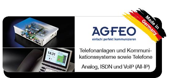 Telefonanlagen von AGFEO Telekommunikation