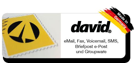 David - Unified Messaging Server von Tobit.Software - CARRANO IT-Consulting Ihr regionaler Tobit Solution Partner (5-Sterne) im Rhein-Main-Gebiet. Erfahrung seit über 20 Jahren. eMail, Faxware, Voice, SMS, Briefpost e-Post, Groupware, Mobility